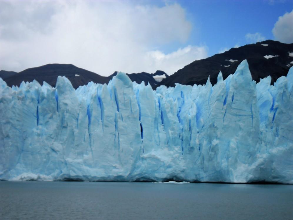 De gletsjer Perito Moreno vanaf de boot. Foto: Annelies