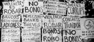 Protesten Argentinie tegen de banken